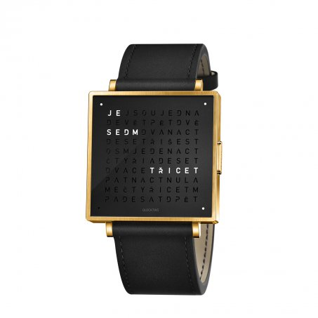 Qlocktwo W39 – Gold Black