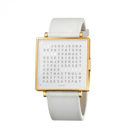 Qlocktwo W39 – Gold White